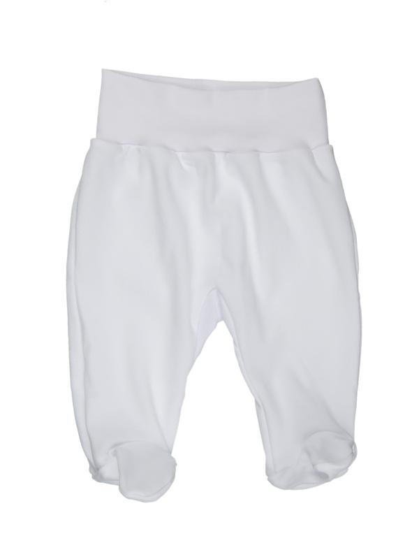 Polodupačky (jednofarebné) - biele - Veľkost: 80