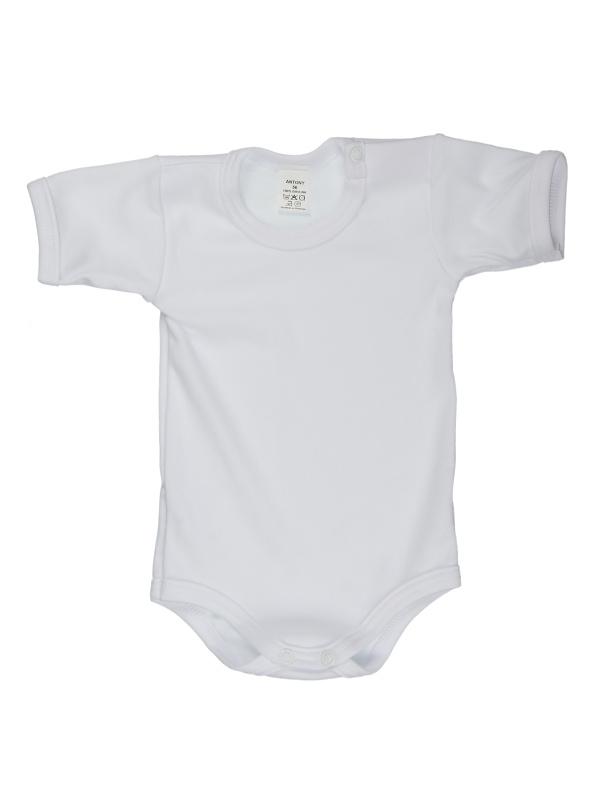 Body krátky rukáv (jednofarebné) - biele - Veľkost: 98