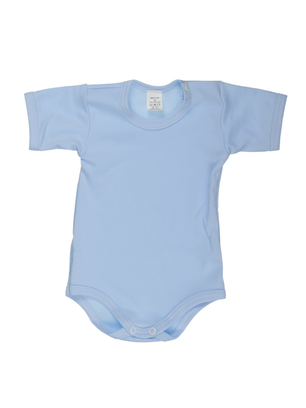 Body krátky rukáv (jednofarebné) - modré - Veľkost: 74