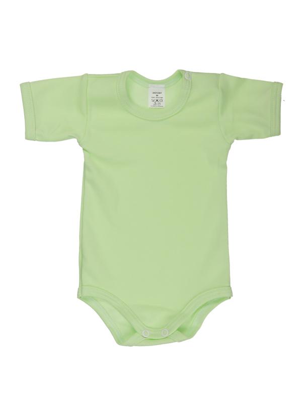 Body krátky rukáv (jednofarebné) - zelené - Veľkost: 74