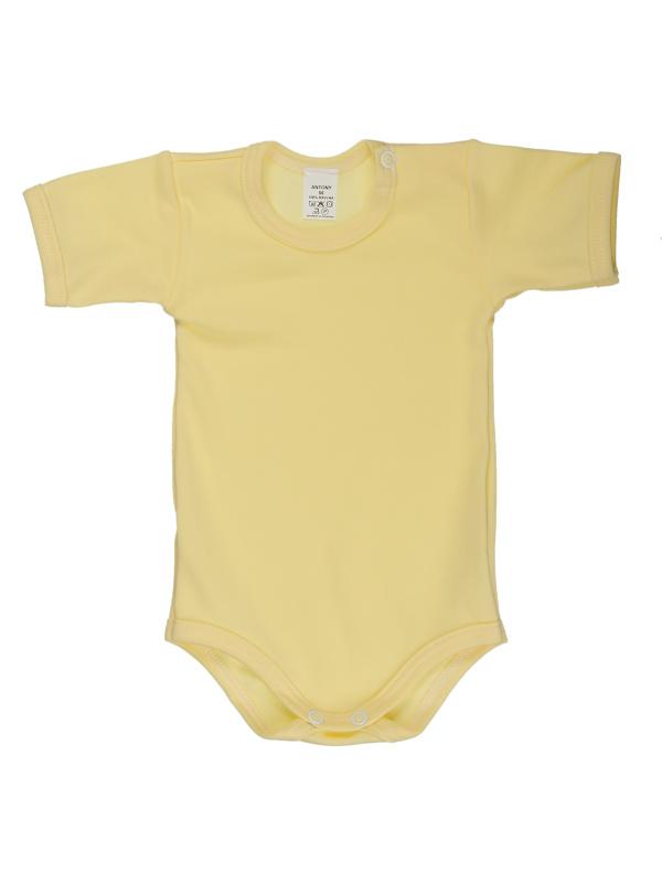 Body krátky rukáv (jednofarebné) - žlté - Veľkost: 74