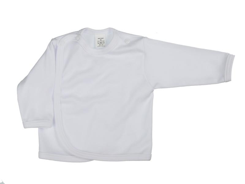 Prekladací kabátik (jednofarebný) - biely - Veľkost: 62