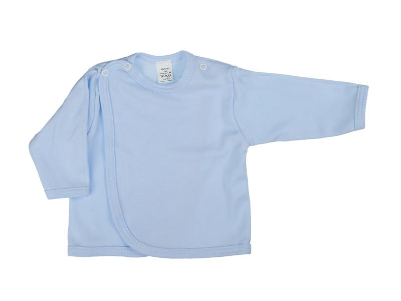 Prekladací kabátik (jednofarebný) - modrý - Veľkost: 62