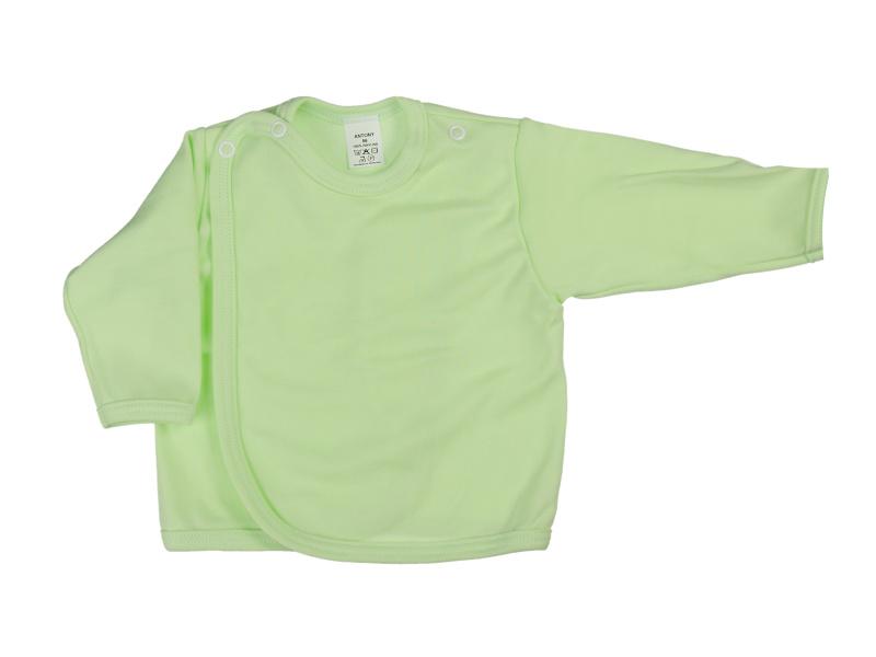 Prekladací kabátik (jednofarebný) - zelený - Veľkost: 62