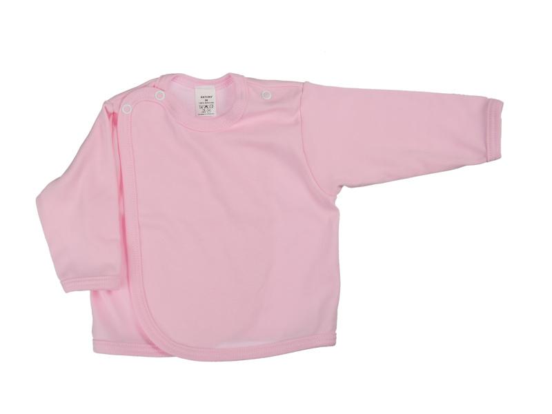 Prekladací kabátik (jednofarebný) - ružový - Veľkost: 62