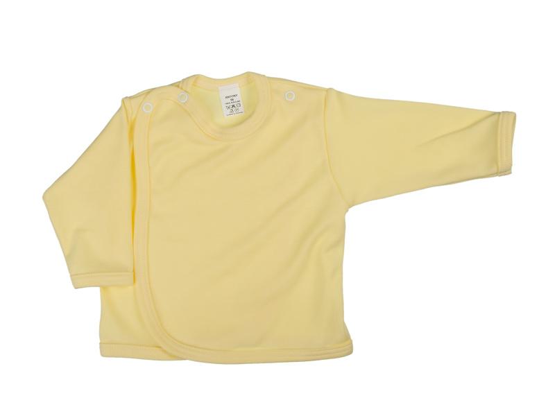Prekladací kabátik (jednofarebný) - žltý - Veľkost: 62