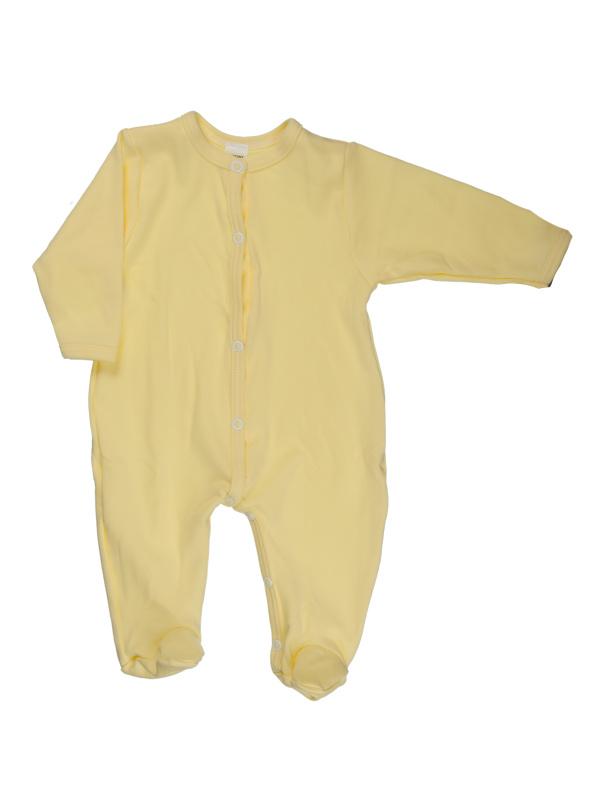 Overal rozopínací (jednoafarebný) - žltý - Veľkost: 56
