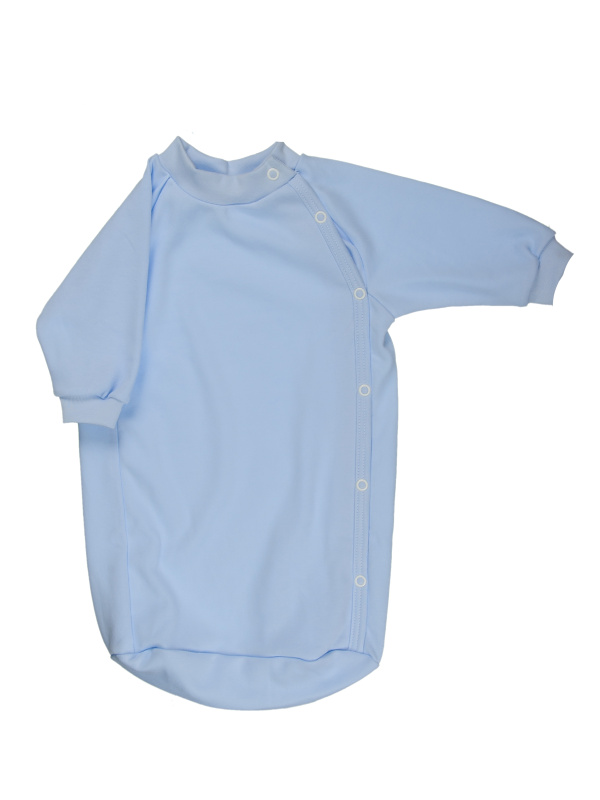Bavlnený spací vak (jednofarebný) - modrý - Veľkost: 56
