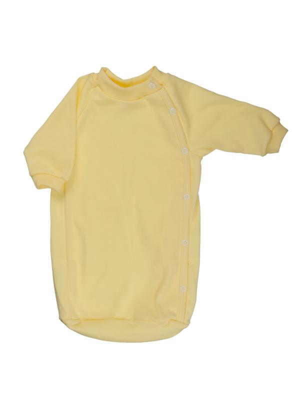 Bavlnený spací vak (jednofarebný) - žltý - Veľkost: 56