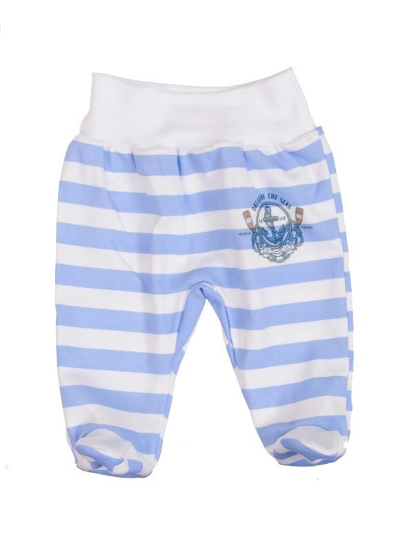 Polodupačky bavlnené (modrý pásik) - KOLESO - Veľkost: 74