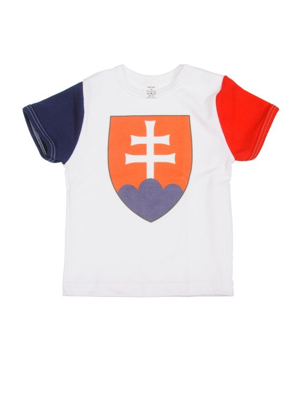 Tričko krátky rukáv (biele) - SLOVENSKO 1 - Veľkost: 110