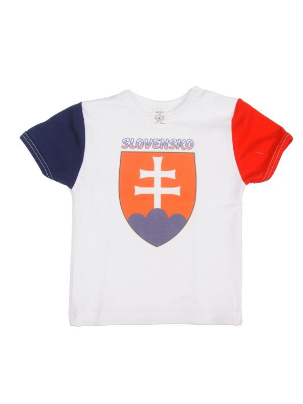 Tričko krátky rukáv (biele) - SLOVENSKO 2 - Veľkost: 110