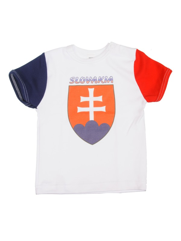 Tričko krátky rukáv (biele) - SLOVENSKO 3 - Veľkost: 98