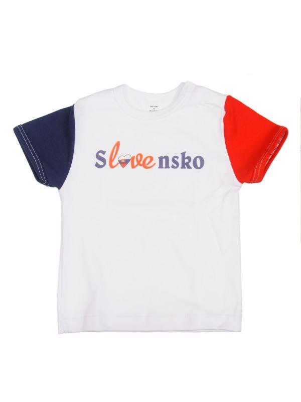 Tričko krátky rukáv (biele) - SLOVENSKO 5 - Veľkost: 110