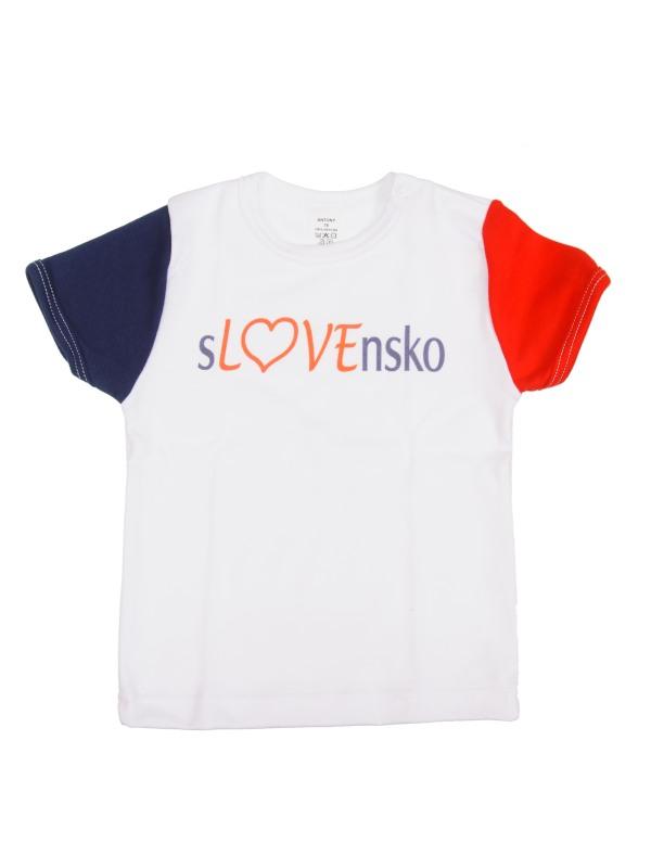 Tričko krátky rukáv (biele) - SLOVENSKO 6 - Veľkost: 110