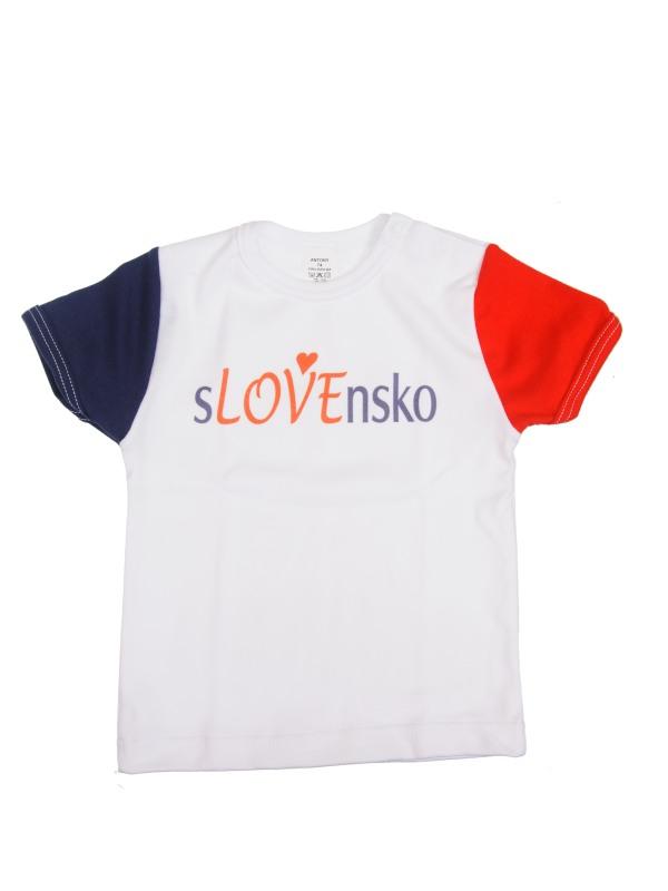 Tričko krátky rukáv (biele) - SLOVENSKO 7 - Veľkost: 98