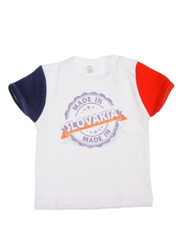 Tričko krátky rukáv (biele) - SLOVENSKO 8 - Veľkost: 110