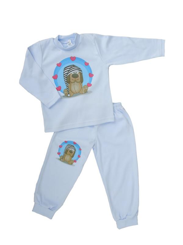 Pyžamo - Psík - modré - Veľkost: 86
