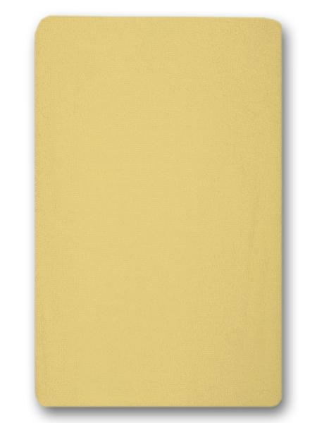Nepremokavé prestieradlo (žlté) - 155g (gumené obšitie) - prestieradlá: 120x60