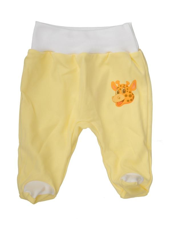 Polodupačky (žlté) - ŽIRAFA (hlava) - Veľkost: 80