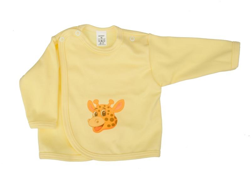 Prekladací kabátik (žltý) - ŽIRAFA (hlava) - Veľkost: 62