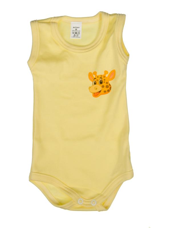 Body tielko (žltý) - ŽIRAFA (hlava) - Veľkost: 80