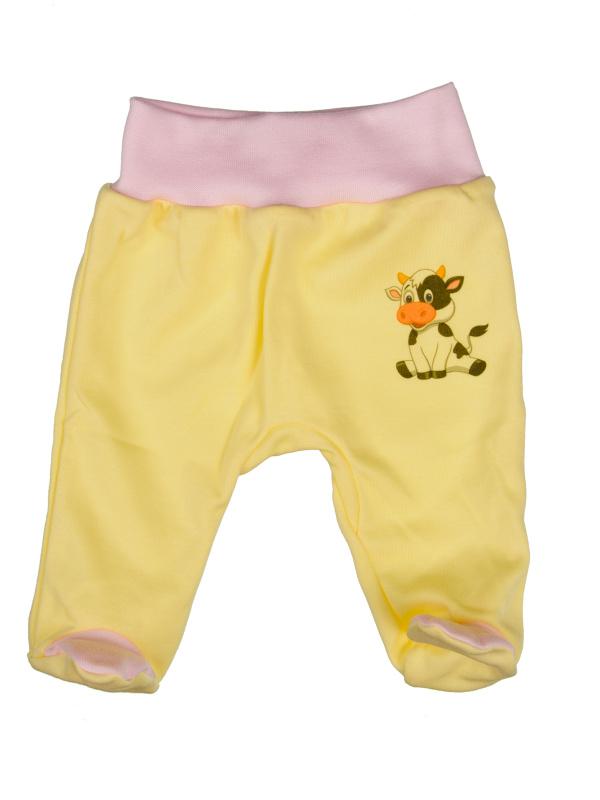 Polodupačky bavlnené (ružovo-žlté) - KRAVIČKA - Veľkost: 74
