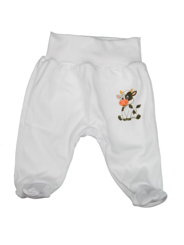 Polodupačky bavlnené (bielo-smotanové) - KRAVIČKA - Veľkost: 74