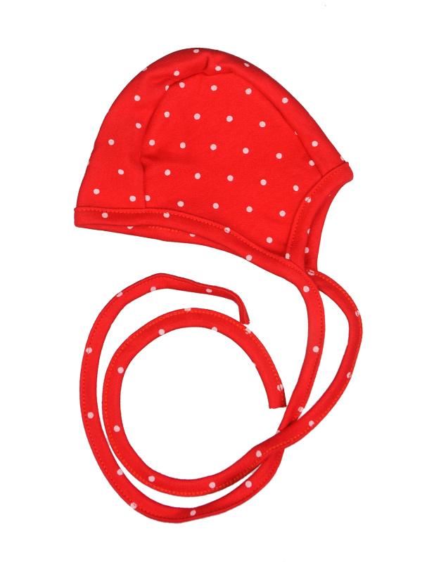 Čiapočka bavlnená - Bodka - červená - Veľkost: 56