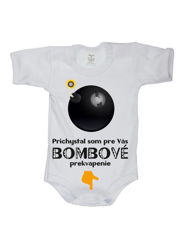 Body krátky rukáv (biele) - Bombové prekvapenie - Veľkost: 56