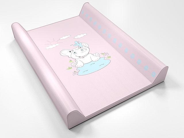 Montovací prebaľovací pult (ružový) - sloník - Rozmer: 70x50x9 cm