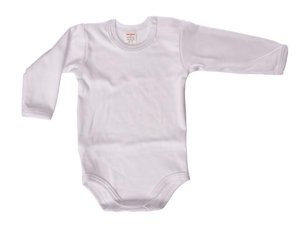 Body dlhý rukáv - jednofarebné (biele) - Veľkost: 80