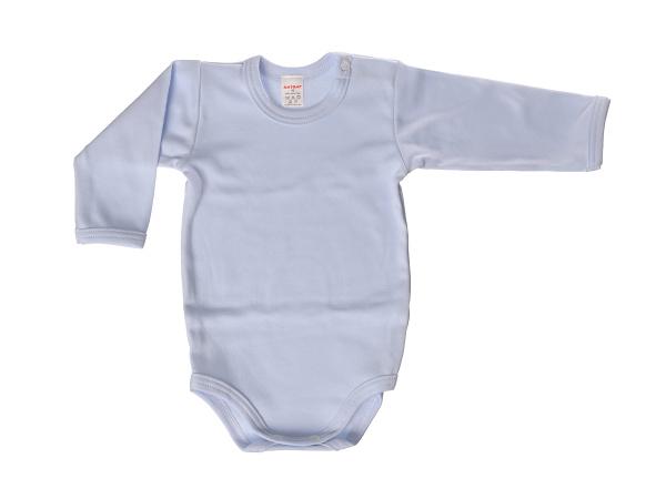 Body dlhý rukáv - jednofarebné (modré) - Veľkost: 80