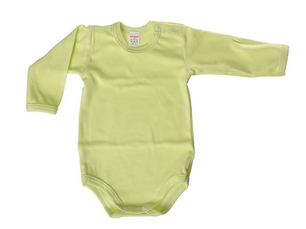 Body dlhý rukáv - jednofarebné (zelené) - Veľkost: 80