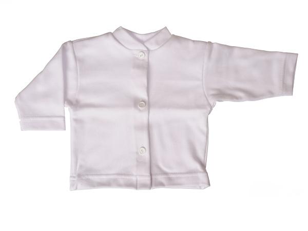 Bavlnený kabátik jednofarebný (biely) - Veľkost: 80