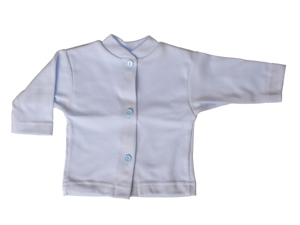 Bavlnený kabátik jednofarebný (modrý) - Veľkost: 80