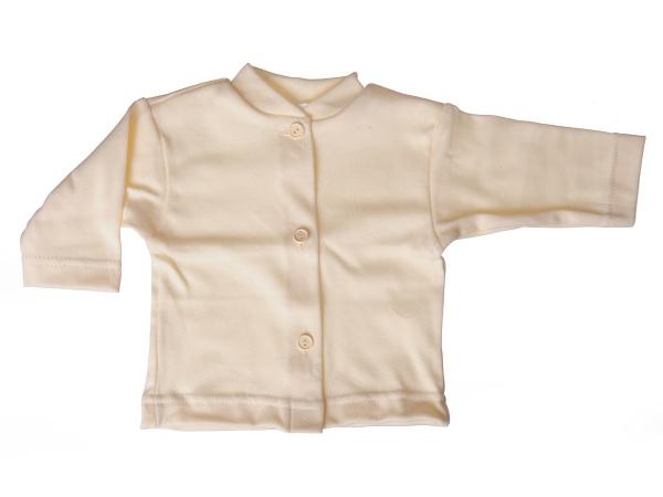 Bavlnený kabátik jednofarebný (smotanový) - Veľkost: 80