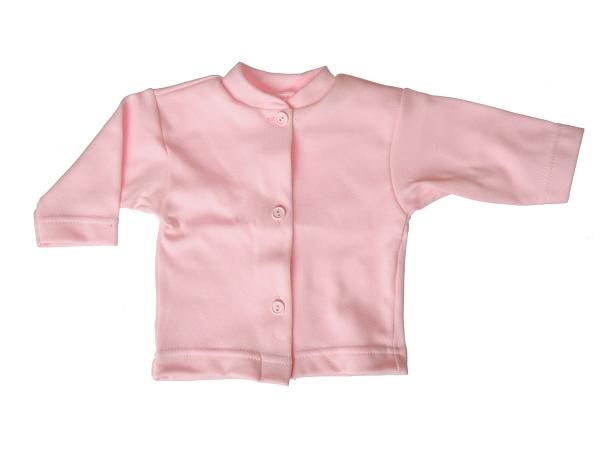 Bavlnený kabátik jednofarebný (ružový) - Veľkost: 80