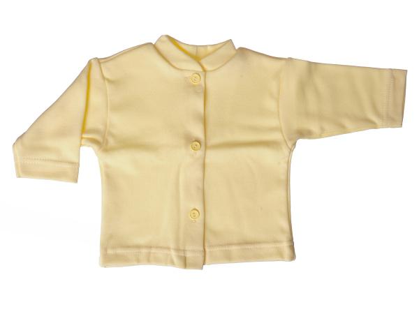 Bavlnený kabátik jednofarebný (žltý) - Veľkost: 80