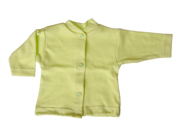 Bavlnený kabátik jednofarebný (zelený) - Veľkost: 62