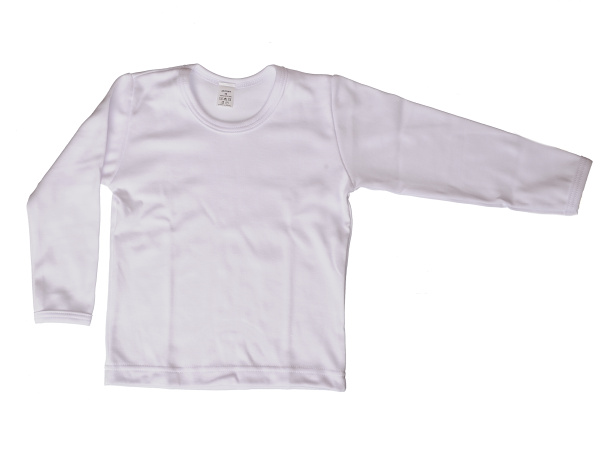 Nátelník jednofarebný (biely) - Veľkost: 92