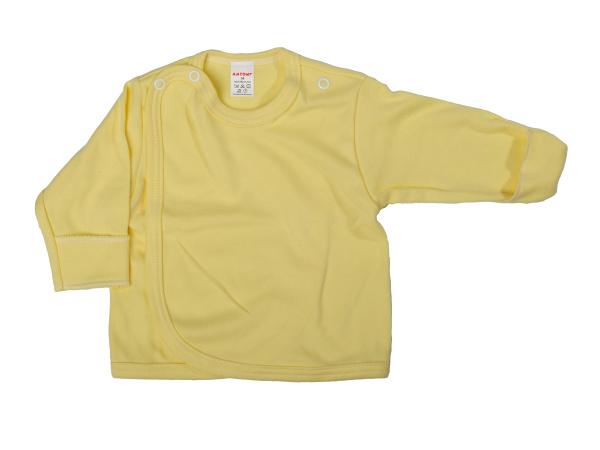 Prekladací kabátik s rukavičkou (žltý) - Veľkost: 62