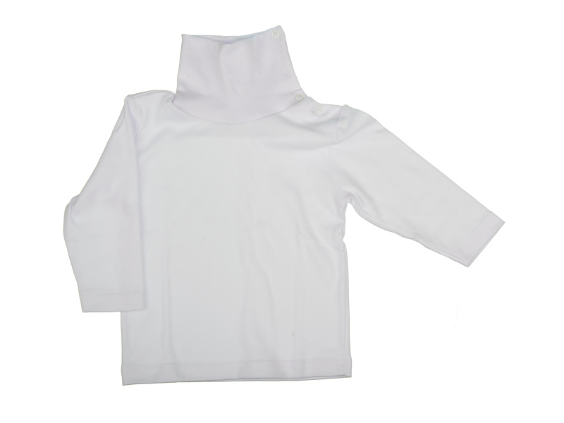 Rolák bavlnený - biely - Veľkost: 128