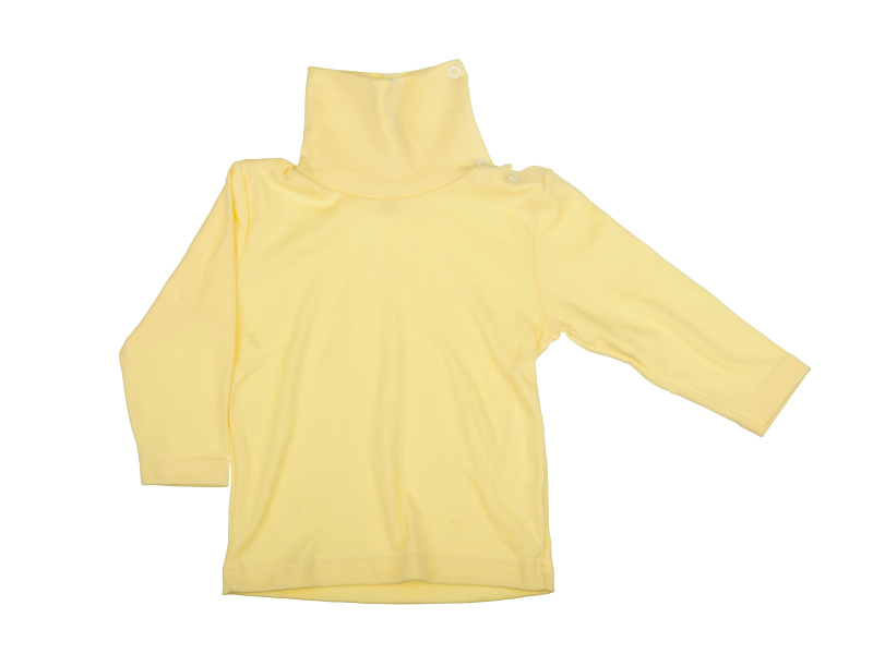 Rolák bavlnený - žltý - Veľkost: 92