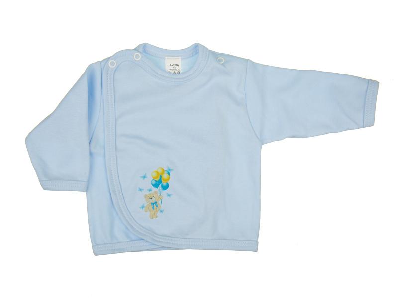 Prekladací kabátik - Macko modrý (modrý) - Veľkost: 62