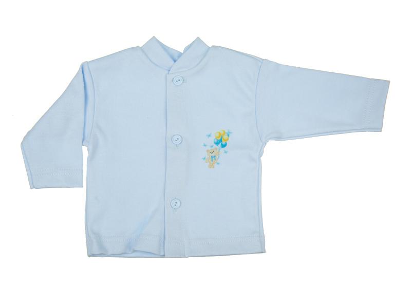Bavlnený kabátik - Macko modrý (modrý) - Veľkost: 74