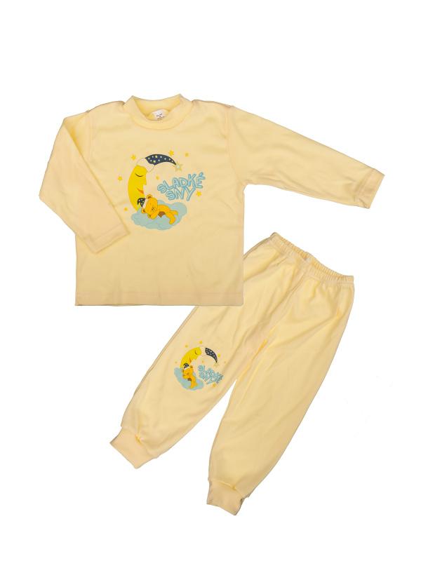 Pyžamo Macko na mesiaci - žlté - Veľkost: 86