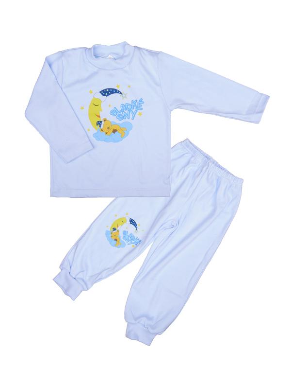 Pyžamo Macko na mesiaci - modré - Veľkost: 86