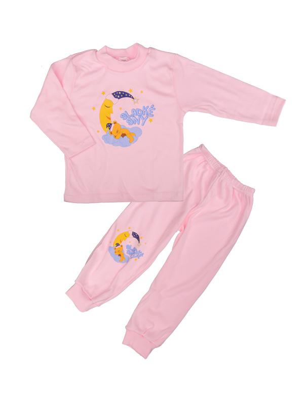 Pyžamo Macko na mesiaci - ružové - Veľkost: 86