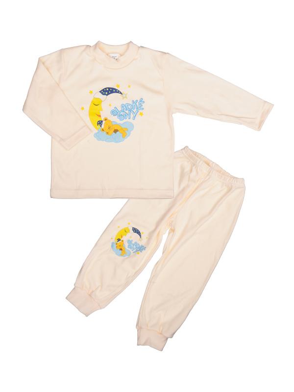 Pyžamo Macko na mesiaci - smotanové - Veľkost: 86